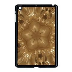 Elegant Gold Brown Kaleidoscope Star Apple Ipad Mini Case (black) by yoursparklingshop