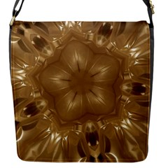 Elegant Gold Brown Kaleidoscope Star Flap Messenger Bag (s) by yoursparklingshop