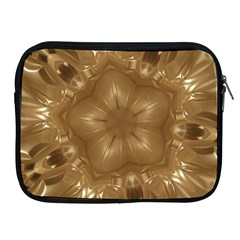 Elegant Gold Brown Kaleidoscope Star Apple Ipad 2/3/4 Zipper Cases by yoursparklingshop
