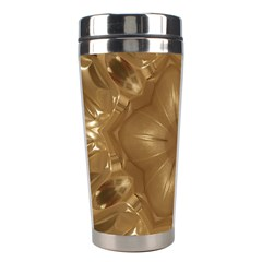 Elegant Gold Brown Kaleidoscope Star Stainless Steel Travel Tumblers by yoursparklingshop