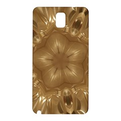 Elegant Gold Brown Kaleidoscope Star Samsung Galaxy Note 3 N9005 Hardshell Back Case by yoursparklingshop