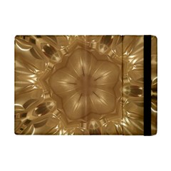 Elegant Gold Brown Kaleidoscope Star Ipad Mini 2 Flip Cases by yoursparklingshop