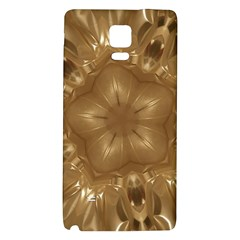 Elegant Gold Brown Kaleidoscope Star Galaxy Note 4 Back Case by yoursparklingshop