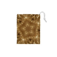Elegant Gold Brown Kaleidoscope Star Drawstring Pouches (xs)  by yoursparklingshop