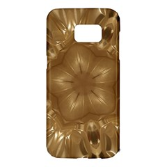 Elegant Gold Brown Kaleidoscope Star Samsung Galaxy S7 Edge Hardshell Case by yoursparklingshop