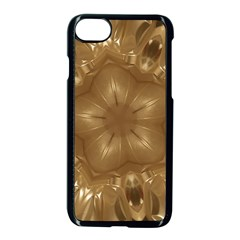 Elegant Gold Brown Kaleidoscope Star Apple Iphone 7 Seamless Case (black) by yoursparklingshop