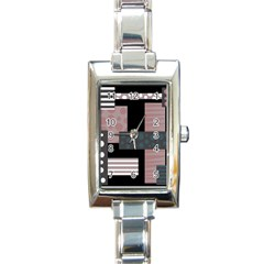 Collage  Rectangle Italian Charm Watch by Valentinaart