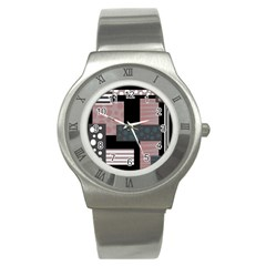 Collage  Stainless Steel Watch by Valentinaart