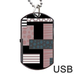 Collage  Dog Tag Usb Flash (two Sides)  by Valentinaart