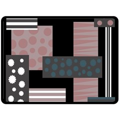 Collage  Double Sided Fleece Blanket (large)