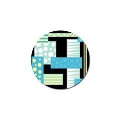 Blue Collage Golf Ball Marker by Valentinaart