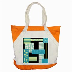 Blue Collage Accent Tote Bag