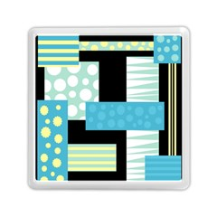 Blue Collage Memory Card Reader (square)  by Valentinaart