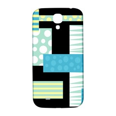 Blue Collage Samsung Galaxy S4 I9500/i9505  Hardshell Back Case by Valentinaart