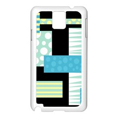 Blue Collage Samsung Galaxy Note 3 N9005 Case (white) by Valentinaart