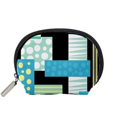 Blue Collage Accessory Pouches (small)