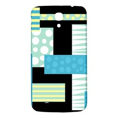 Blue Collage Samsung Galaxy Mega I9200 Hardshell Back Case by Valentinaart