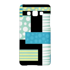 Blue Collage Samsung Galaxy A5 Hardshell Case