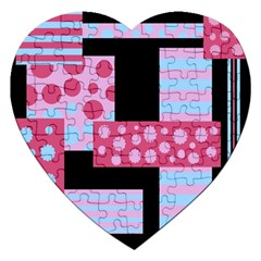 Pink Collage Jigsaw Puzzle (heart)