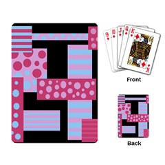 Pink Collage Playing Card by Valentinaart