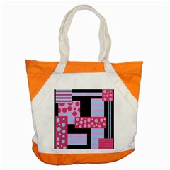 Pink Collage Accent Tote Bag by Valentinaart