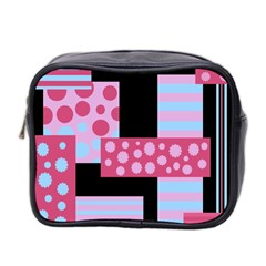 Pink Collage Mini Toiletries Bag 2 Side by Valentinaart