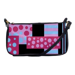 Pink Collage Shoulder Clutch Bags by Valentinaart
