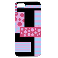 Pink Collage Apple Iphone 5 Hardshell Case With Stand by Valentinaart