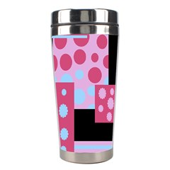Pink Collage Stainless Steel Travel Tumblers by Valentinaart