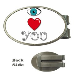 I Love You Money Clips (oval)  by Valentinaart