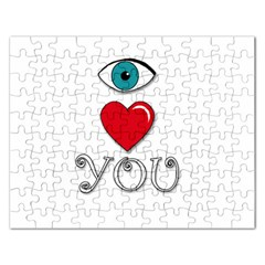 I Love You Rectangular Jigsaw Puzzl by Valentinaart