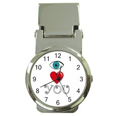 I Love You Money Clip Watches by Valentinaart