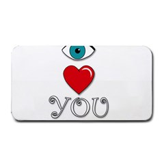 I Love You Medium Bar Mats by Valentinaart