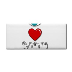 I Love You Cosmetic Storage Cases by Valentinaart