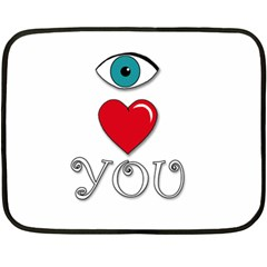 I Love You Fleece Blanket (mini) by Valentinaart