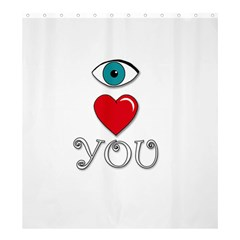 I Love You Shower Curtain 66  X 72  (large)  by Valentinaart