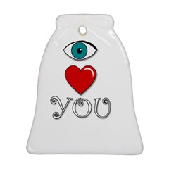 I Love You Bell Ornament (2 Sides)