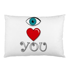 I Love You Pillow Case (two Sides)