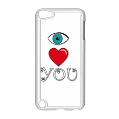 I Love You Apple Ipod Touch 5 Case (white) by Valentinaart