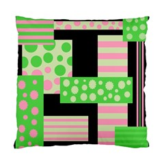 Green And Pink Collage Standard Cushion Case (one Side) by Valentinaart
