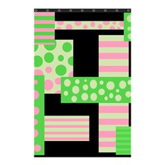 Green And Pink Collage Shower Curtain 48  X 72  (small)  by Valentinaart