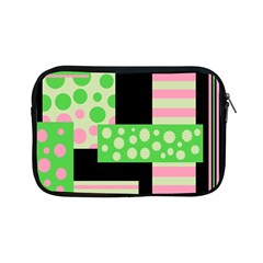 Green And Pink Collage Apple Ipad Mini Zipper Cases by Valentinaart