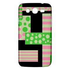 Green And Pink Collage Samsung Galaxy Mega 5 8 I9152 Hardshell Case  by Valentinaart