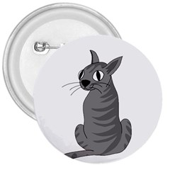 Gray Cat 3  Buttons by Valentinaart