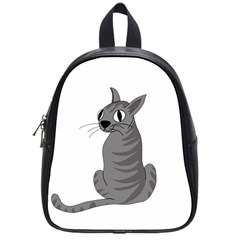Gray Cat School Bags (small)  by Valentinaart