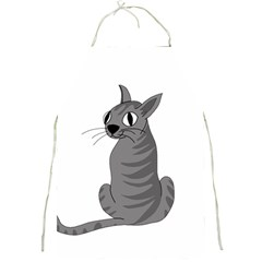 Gray Cat Full Print Aprons