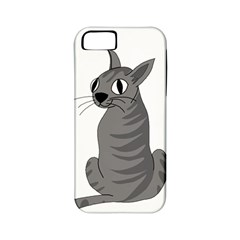 Gray Cat Apple Iphone 5 Classic Hardshell Case (pc+silicone) by Valentinaart