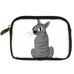 Gray Cat Digital Camera Cases by Valentinaart