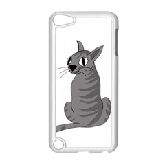 Gray Cat Apple Ipod Touch 5 Case (white) by Valentinaart