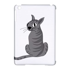 Gray Cat Apple Ipad Mini Hardshell Case (compatible With Smart Cover) by Valentinaart
